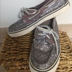 Sperry Top-Sider Size 7.5 Sparkle Leather Used